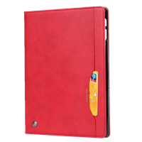 New iPad Pro 11''  (2018/2019) Wallet Case With Card Holder Red