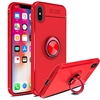 iPhone XS/X 360 Autofocus 360 Shockproof Case With Ring Holder Red