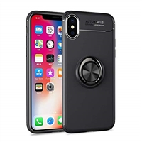 iPhone XS Max Autofocus 360 Shockproof Case With Ring Holder Black