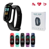 M3S Fit Band With Pedometer/Heart Rate/Sedentary Reminder  Blue