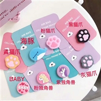 Silicon Cartoon Design Phone Holders Mix
