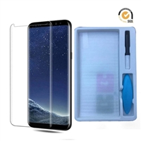 Galaxy S9 Nano Liquid UV Light 3D Full Glue Tempered Glass