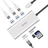 WIWU A631ST 6-in-1 Multi-Port Type-C Hub Converter Silver