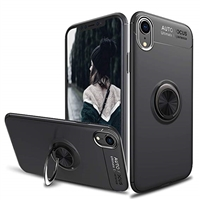 Redmi 6 Autofocus 360 Shockproof Case With Ring Holder Black