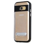Galaxy A3 (2017) A320F Transparent TPU Case With Stander Black