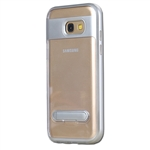 Galaxy A3 (2017) A320F Transparent TPU Case With Stander Silver