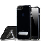 iPhone 8/7 Plus Transparent TPU Case With Stander Black