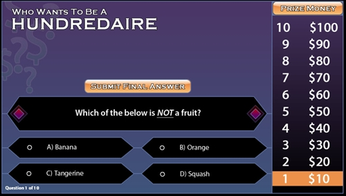 Who Wants To Be A Millionaire Game Show Template Free