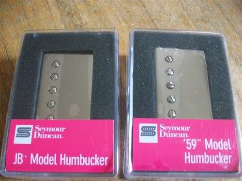 SEYMOUR DUNCAN SH-4 JB SH-1N 59 HUMBUCKER PICKUP SET BLACK