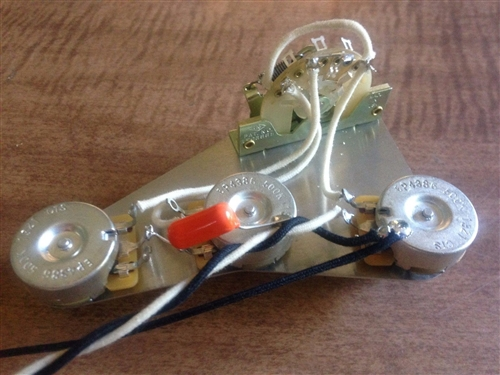 Upgrade Wiring Harness for Fender Stratocaster 500k CTS Pots 5 Way on