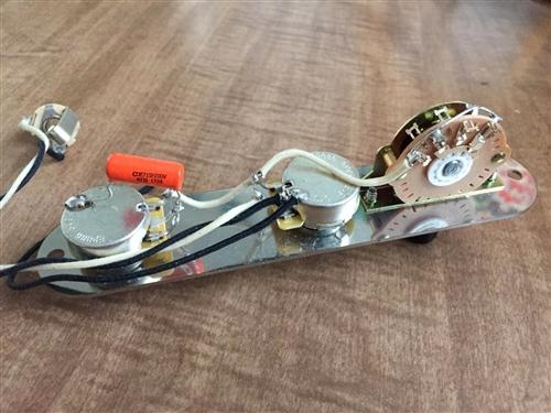 Fender Telecaster Wiring Harness 500k CTS Oak Grigsby Switch .047 Orange  DropSmokey B's