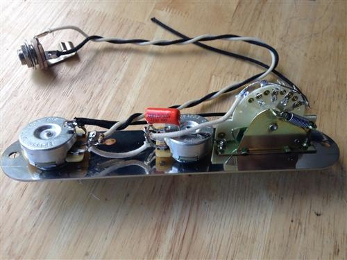 Reverse Telecaster Wiring Harness Fender CTS Pots CRL Orange Drop Treble  BleedSmokey B's