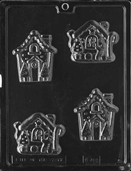 Gingerbread House Chocolate Mold Christmas Holiday Winter Children