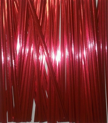 "4"" Red Metallic Twist Ties - 100 PACK Christmas holiday Valentine"