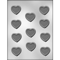 Heart with Border Chocolate Mold 90-1028 valentine wedding anniversary