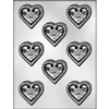"2-1/8"" Heart with Flowers Mold"