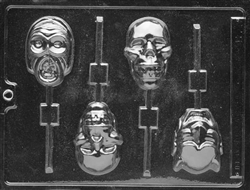 Scary Faces Lolly Mold