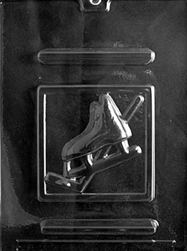 Ice Hockey Skate & Stick Plaque Chocolate Mold