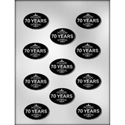 """70 Years"" Mint Chocolate Mold"