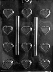 Bite Size Heart Chocolate Mold wedding valentine anniversary sweetest day