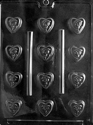 Bite Size Rose Heart Chocolate Mold valentine wedding mothers day