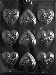 Medium Heart with Flowers Chocolate Mold V096 valentine mothers day anniversary wedding