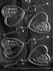Heart with Bouquet Lolly Chocolate Mold