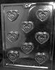Decorated Heart Mints Mold