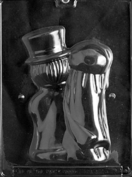 3D Medium Bride & Groom Chocolate Mold
