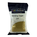 Gold Sanding Sugar - 16 Ounce Bag