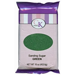 Green Sanding Sugar - 16 Ounce Bag