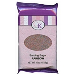 Rainbow Sanding Sugar - 16 Ounce Bag