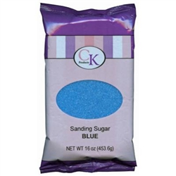 Blue Sanding Sugar - 16 Ounce Bag