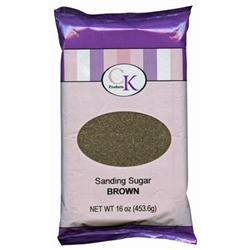 Brown Sanding Sugar - 16 Ounce Bag