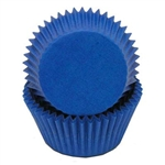 Blue Round Baking Cups