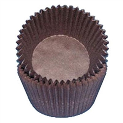 Brown Round Baking Cups
