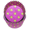 Purple Lime Hot Dots Round Baking Cups