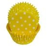 Yellow Polka Dot Baking Cups