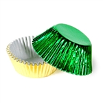 1/2 Ounce Green & Gold Foil Candy Cups
