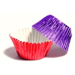 Pink & Purple Foil Candy Cups - 100 Pack (5025E2)