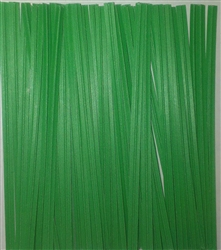 "4"" Green Paper Twist Ties - 100 Pack"