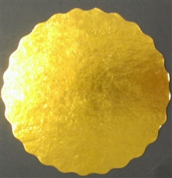 "8"" Round Gold Scalloped Cake Pad birthday anniversary wedding cake"