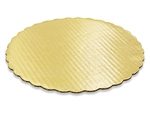 "10"" Round Gold Scalloped Cake Pad birthday cake anniversary wedding"