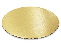 "12"" Round Gold Scalloped Cake Pad birthday cake anniversary wedding"