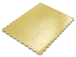 "10"" X 14"" Gold Scalloped Cake Pad wedding cake anniversary birthday"