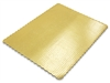 "13"" x 18"" Gold Scalloped Cake Pad"