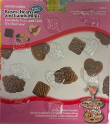 Rose Hearts Minis Mold