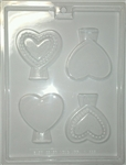 Heart on Stand Mold Valentine wedding anniversary Sweetest Day