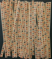 "4"" Autumn Paper Twist Ties - 50 Pack"