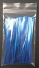 "4"" Blue Metallic Twist Ties - 100 Pack"
